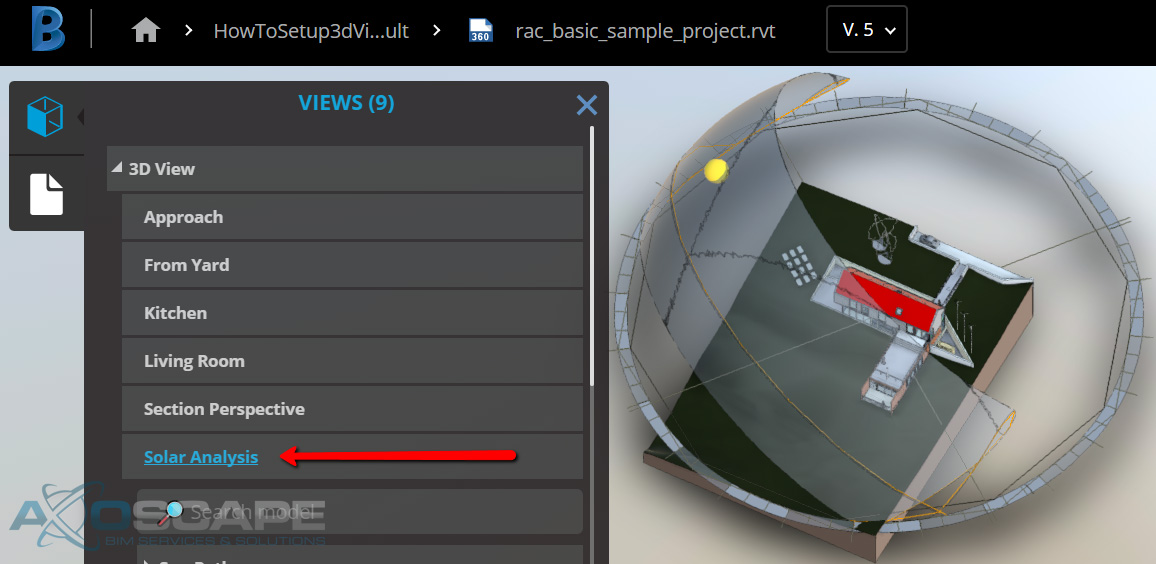 Workflow to Set Default 3D View for BIM 360 Team | Axoscape